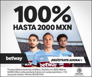 Betway México Bono Bienvenida 2000 pesos