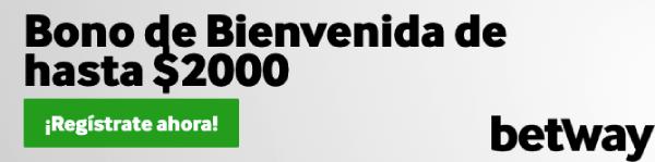 Betway MX Bono Bienvenida 2000 pesos