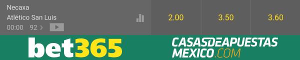 Momios de apuestas - Necaxa vs. Atlético San Luis - Liga MX 26/01/20