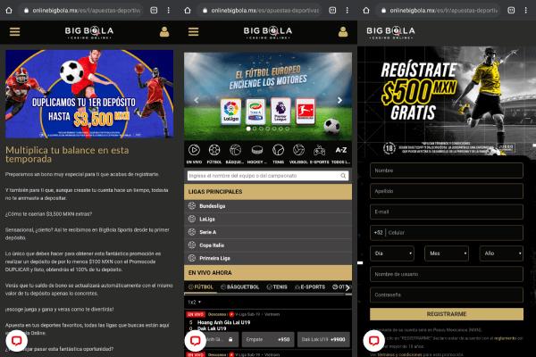 Big Bola App - App de apuestas deportivas de México - Android APK e iOS