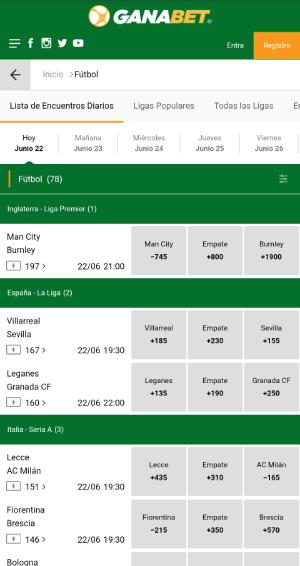 Ganabet App Apuestas - Versión Móvil, Android APK e iOS