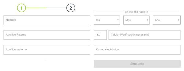 Registro Codere México - Paso 2