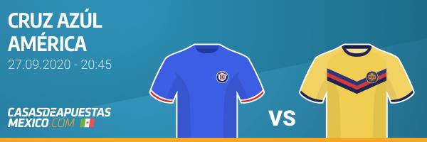 Pronósticos de apuestas - Cruz Azul vs. America - Liga MX 27/09/20
