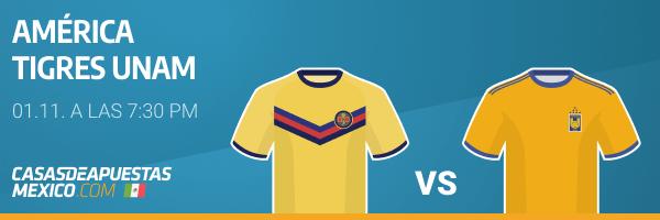 Pronósticos América vs. Tigres Liga MX 01/11/20