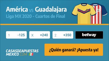 Apuestas América vs. Guadalajara - Liga MX 28/11/20