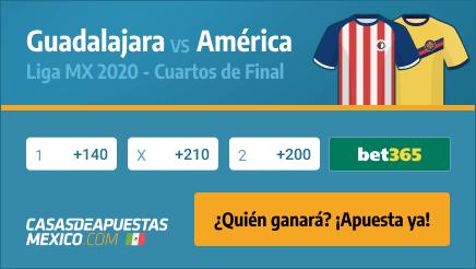 Apuestas Chivas de Guadalajara vs. América - Liga MX Cuartos de Final 25/11/20