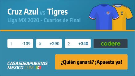 Apuestas Cruz Azul vs. Tigres - Liga MX 29/11/20