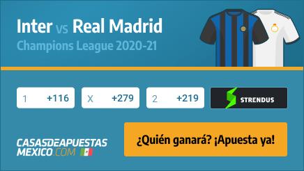 Apuestas Inter vs. Real Madrid Champions League 25/11/20
