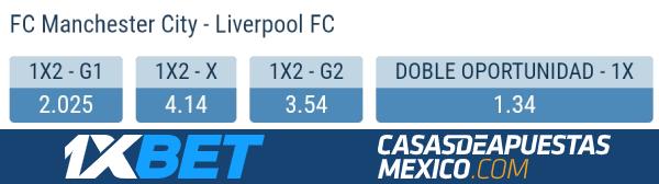 Apuestas Manchester City vs. Liverpool - Premier League 08/11/20