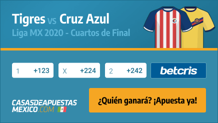 Apuestas Tigres vs. Cruz Azul - Liga MX Cuartos de Final 26/11/20