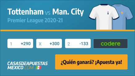 Apuestas Tottenham vs. Manchester City - Premier League 21/11/20