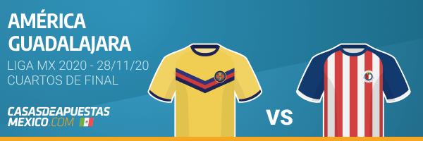 Pronósticos América vs. Guadalajara - Liga MX 28/11/20