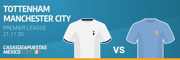 Pronósticos Tottenham vs. Manchester City - Premier League 21/11/20