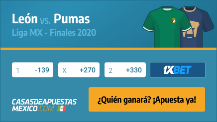 Apuestas Pronósticos León vs. Pumas - Liga MX Finales 13/12/20