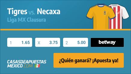 Apuestas Pronósticos Tigres vs. Necaxa - Liga MX Clausura 28/01/21