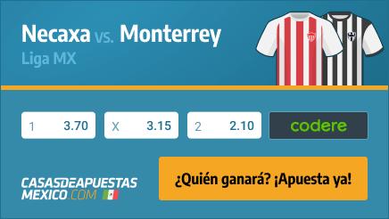 Apuestas - Pronósticos Necaxa vs. Monterrey - Liga MX 19/02/21