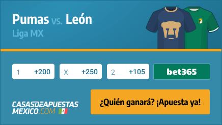 Apuestas Pronósticos Pumas UNAM vs. Club León - 21/02/21 Liga MX