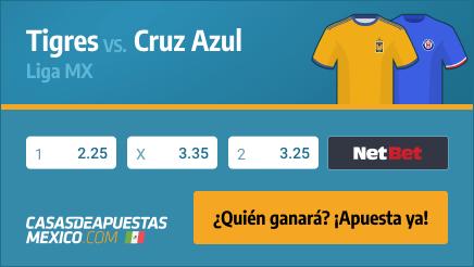 Apuestas Pronósticos Tigres vs. Cruz Azul - Liga MX 17/02/21