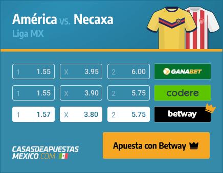 Apuestas Pronósticos América vs. Necaxa - Liga MX 03/04/21