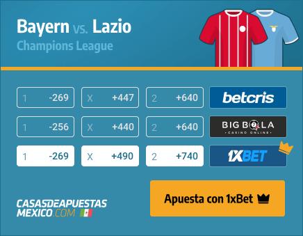 Apuestas Pronósticos Bayern vs. Lazio - Champions League 17/03/21