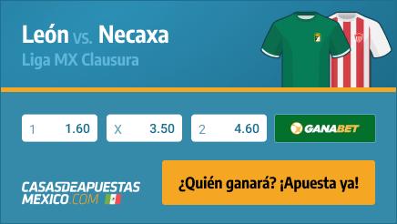 Apuestas Pronósticos León vs. Necaxa - Liga MX 15/03/21