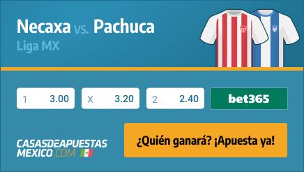 Apuestas Pronósticos Necaxa vs. Pachuca - Liga MX 04/03/21
