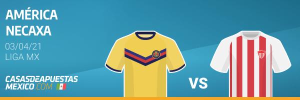 Pronósticos América vs. Necaxa - Liga MX 03/04/21