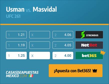 Apuestas Pronósticos Usman vs. Masvidal - UFC 261 24/04/21