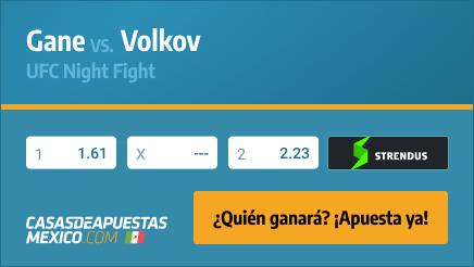 Apuestas Pronósticos Gane vs. Volkov - UFC Fight Night 26/06/21