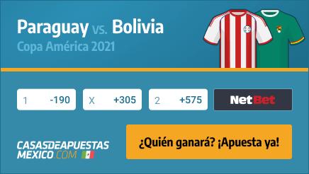 Apuestas y Pronósticos: Paraguay vs. Bolivia 14/06/21 - Copa América 2021 - Casasdeapuestas-mexico.com