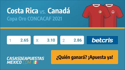 Apuestas Pronósticos Costa Rica vs. Canadá - Copa Oro CONCACAF 25/07/21