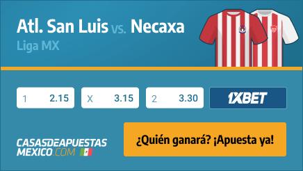 Apuestas Pronósticos Atl. San Luis vs. Necaxa - Liga MX 12/08/21