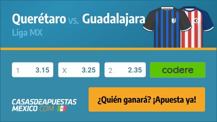 Apuestas Pronósticos Querétaro vs. Guadalajara - Liga MX 29/09/21