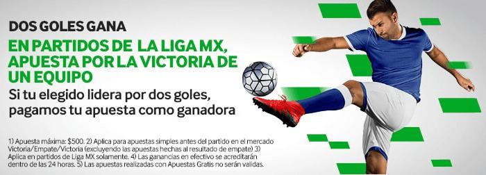Promo Betway: Liga MX - Dos Goles Gana